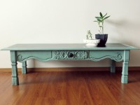 Antique Blue Coffee Table | Coffee Table Design Ideas
