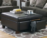Black Leather Ottoman Coffee Table | Coffee Table Design Ideas