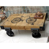 Wheeled Coffee Table - Home Design