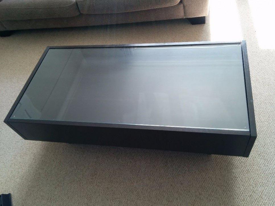 Coffee Table Display Case Glass Top IKEA