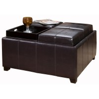 Coffee Table Leather Ottoman | Coffee Table Design Ideas