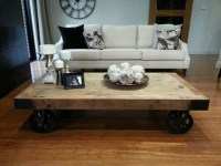 Coffee Table Rustic Wheels | Coffee Table Design Ideas