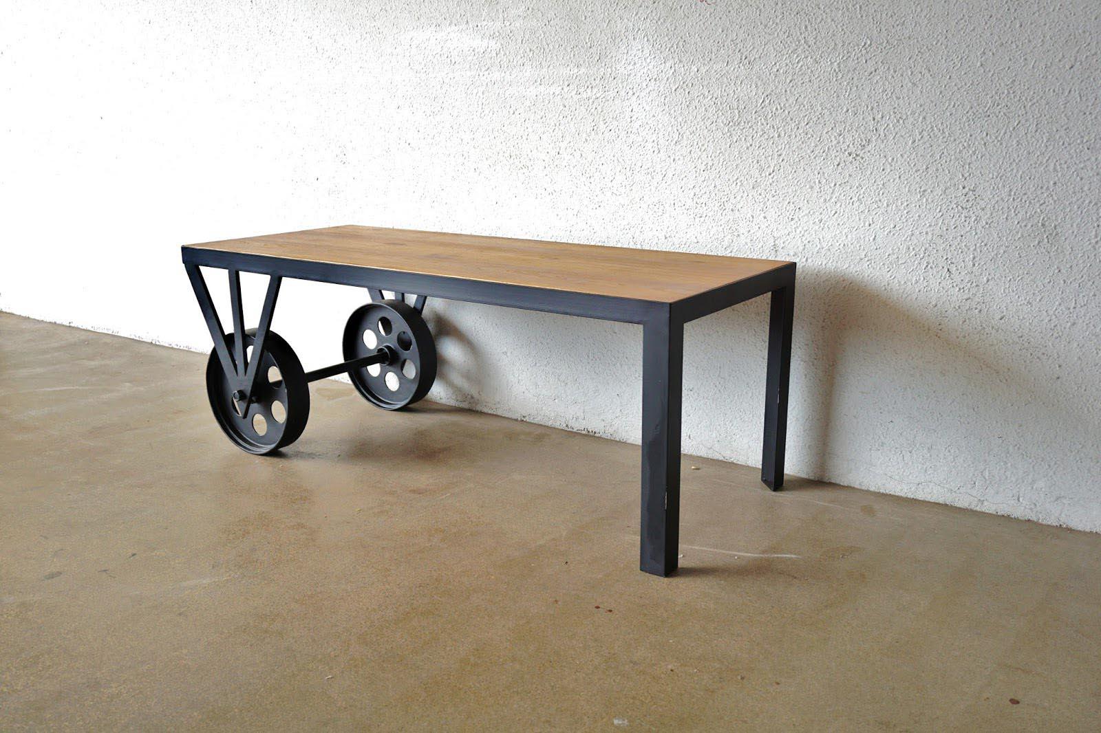Coffee Table Wheels Industrial
