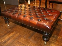 Leather Tufted Ottoman Coffee Table | Coffee Table Design ...