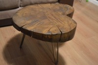 Oak Log Coffee Table | Coffee Table Design Ideas