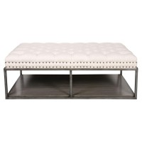 Rectangular Leather Ottoman Coffee Table | Coffee Table ...
