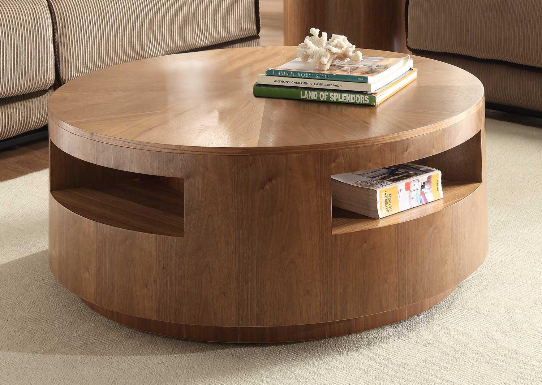 Round Oak Coffee Table  Coffee Table Design Ideas