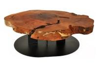 Harmonious Wood Slab Coffee Table | Coffee Table Design Ideas