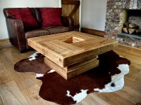 Rustic Log Coffee Table | Coffee Table Design Ideas