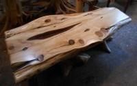 Rustic Wood Slab Coffee Table | Coffee Table Design Ideas