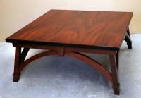 Square Mahogany Coffee Table | Coffee Table Design Ideas
