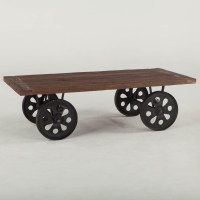 Wheel Cart Coffee Table | Coffee Table Design Ideas