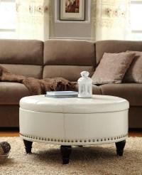 White Leather Ottoman Coffee Table | Coffee Table Design Ideas