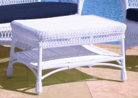 White Wicker Patio Coffee Table