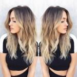 Balayage Blonde Hairstyle: Brun foncé à blond
