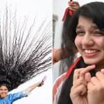 Une adolescente aux cheveux les plus longs du monde se fait couper après l'avoir cultivée pendant plus d'une décennie