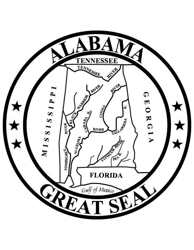 alabama state seal  download free alabama state seal for