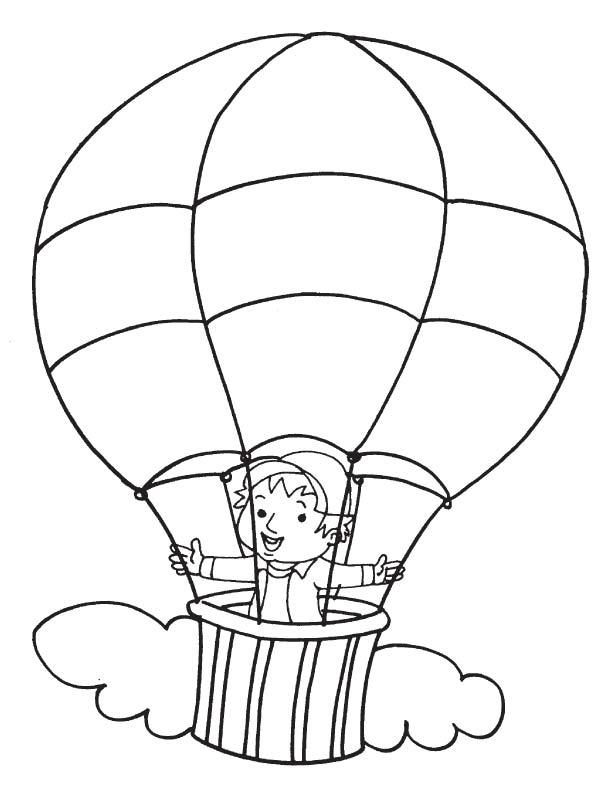Mewarnai Balon Udara