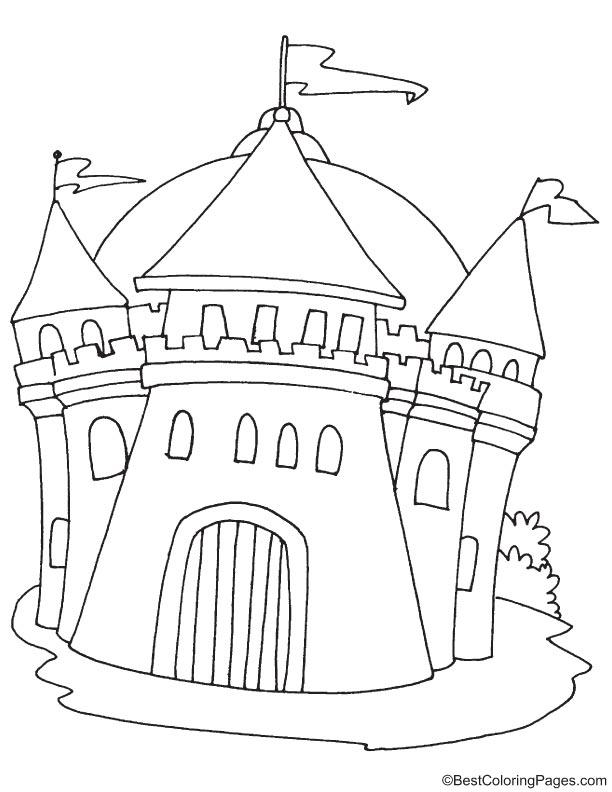 Evil Castle Coloring Pages