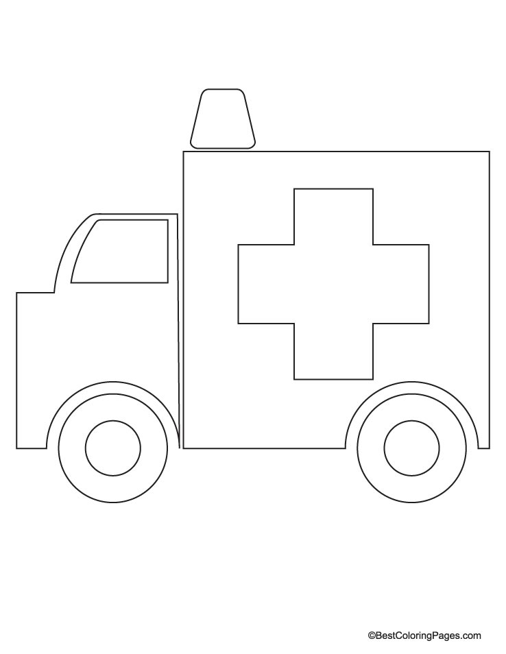 Ambulance Coloring Page Download Free Ambulance Coloring Page For Kids Best Coloring Pages