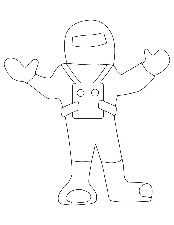 Astronaut Coloring For Preschool Art Coloring Pages