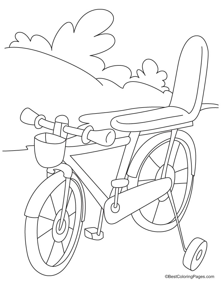 kids-bicycle safety coloring pages
