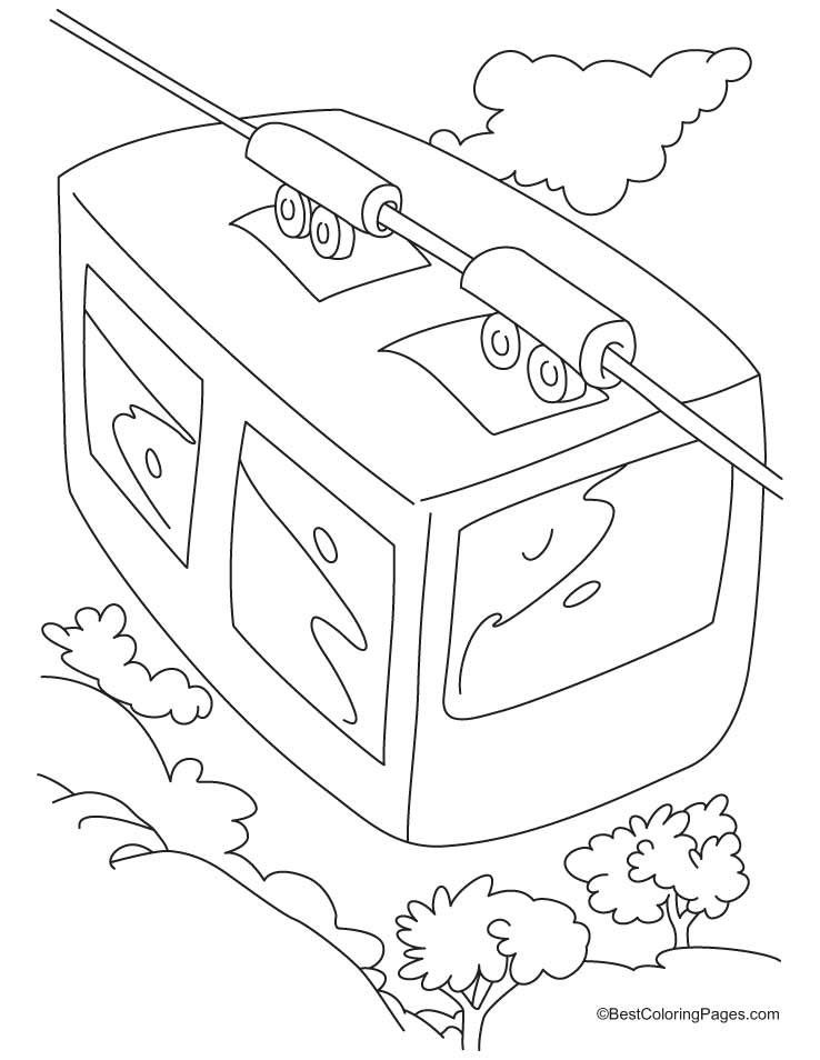 Trolley Car Coloring Page Coloring Pages