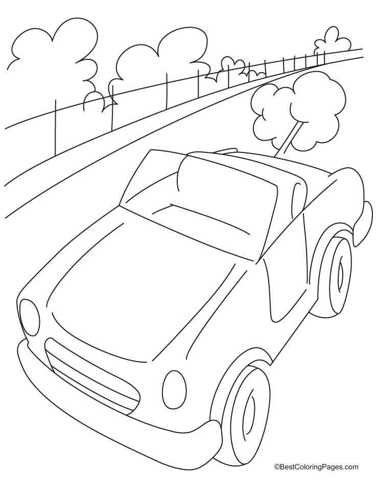 Highway Coloring Pages