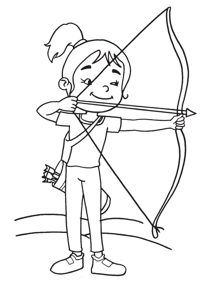 Target Archery Coloring Page