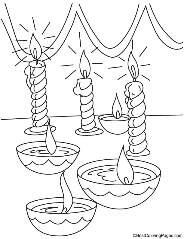 Diwali Lanterns Coloring Pages Coloring Coloring Pages