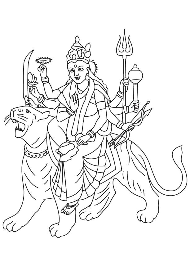 Colouring Pages For Navratri