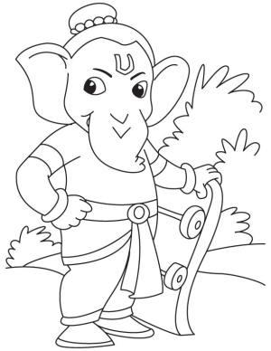 ganpati easy sketch drawing ganesha ganesh simple coloring pages getdrawings