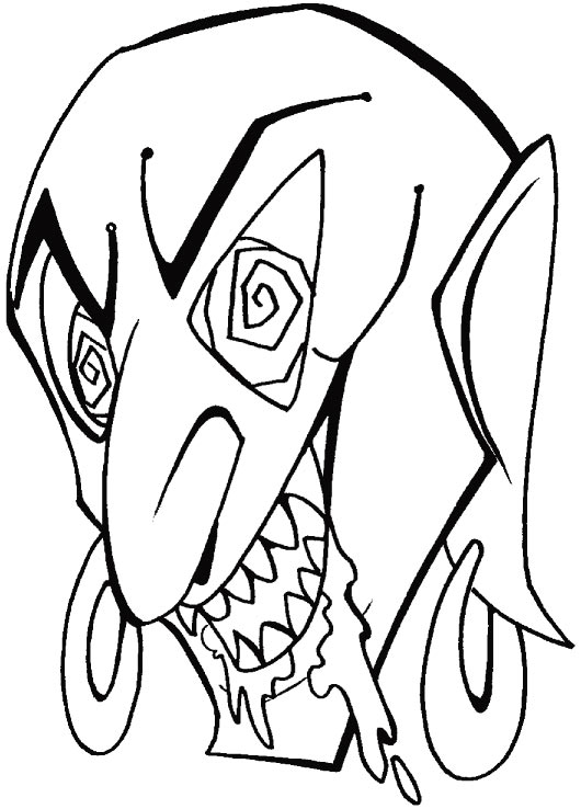 Trick or treat, give me some thing to eat coloring pages