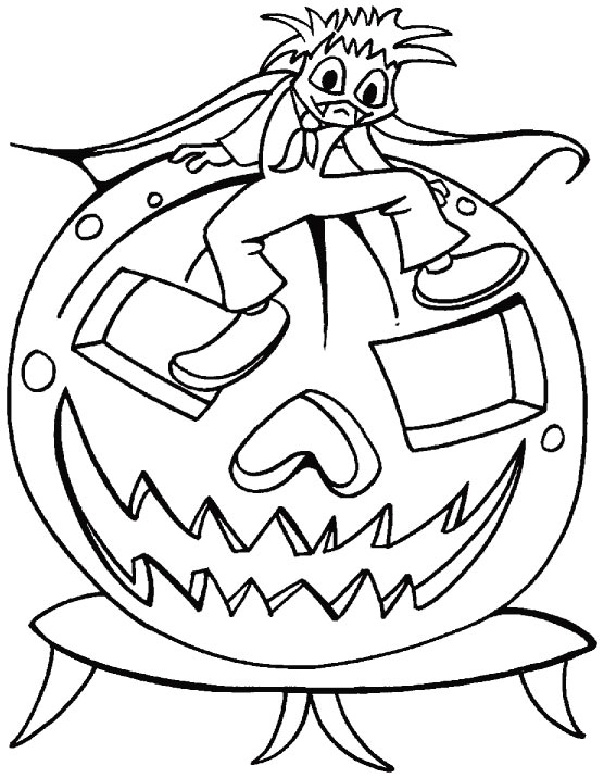 There is nothing funny about Halloween coloring pages