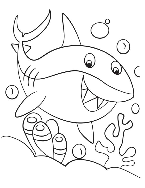 Preschool Water Safety Coloring Page