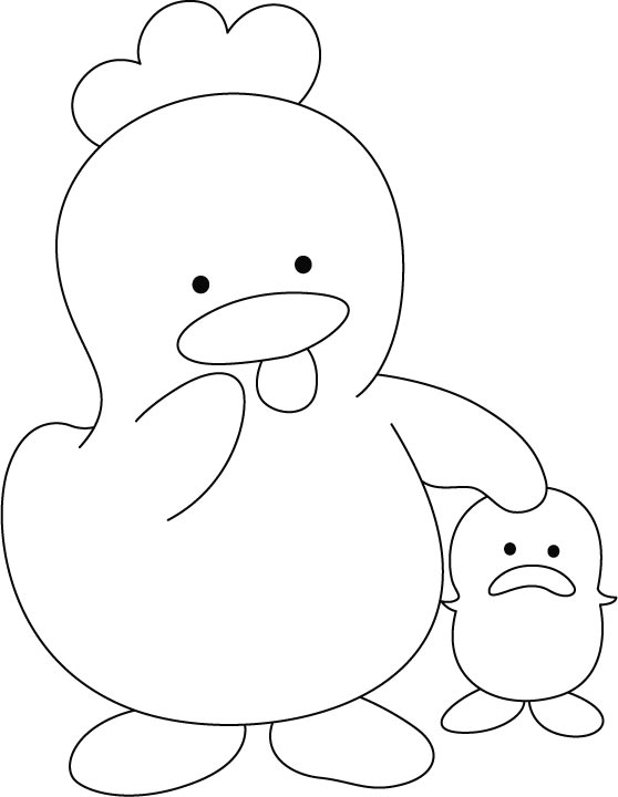 red hen story coloring pages