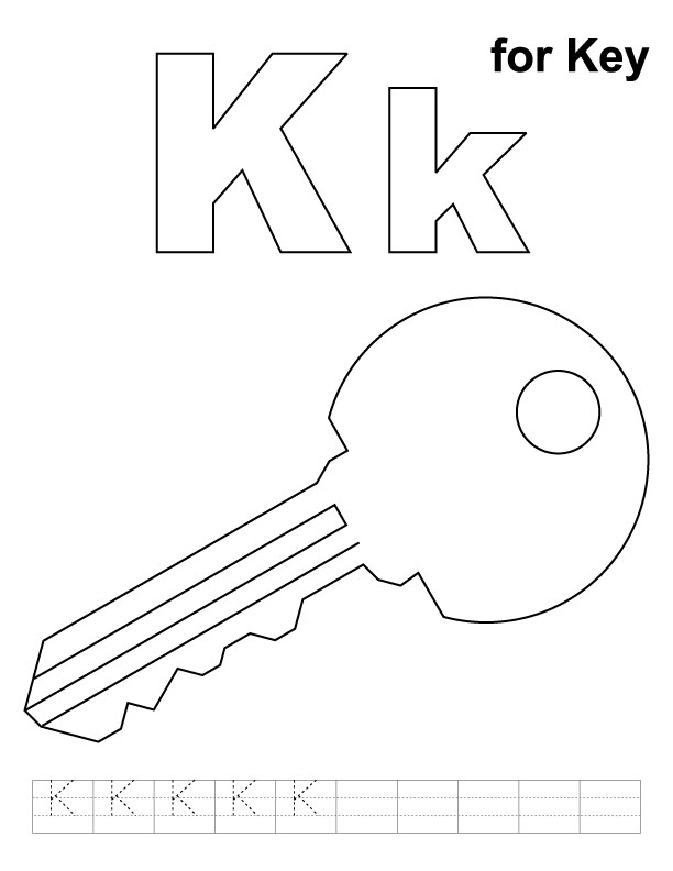 Free coloring pages of k