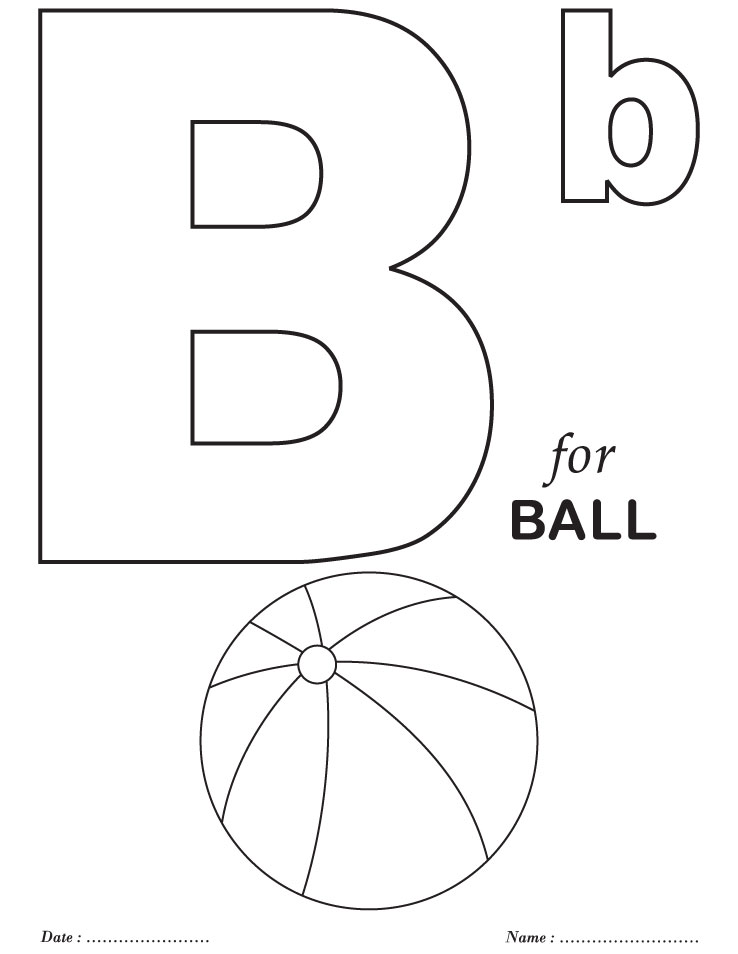 Letter B Coloring Worksheet Coloring Pages