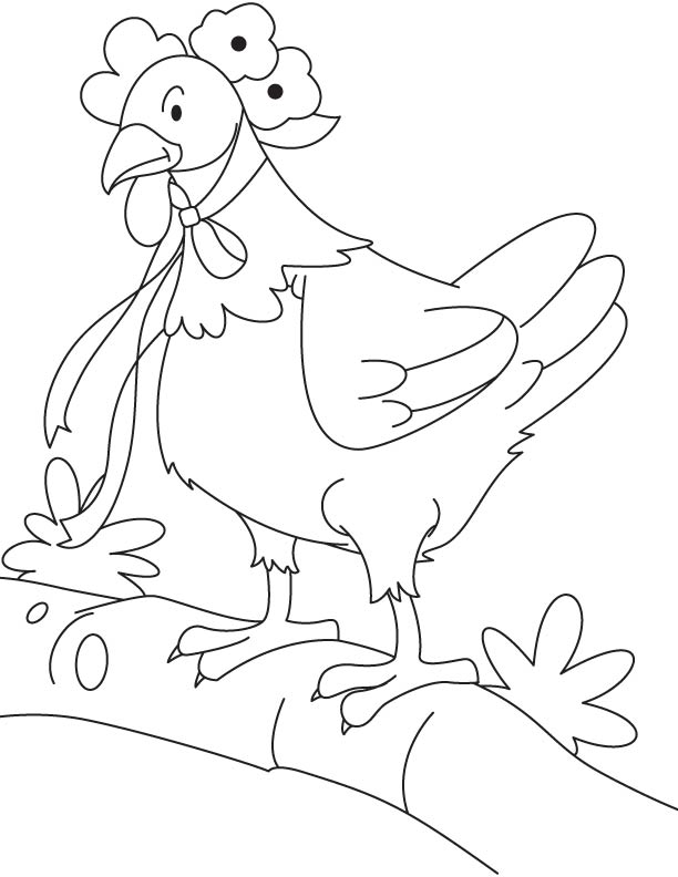 little red hen characters coloring pages