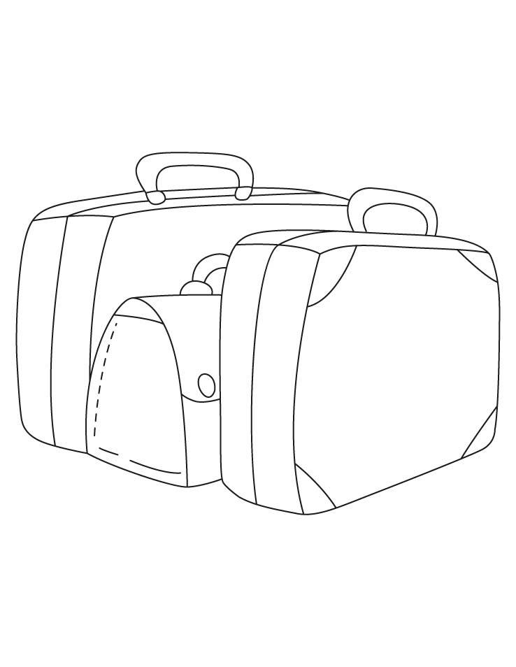 suitcase template coloring pages