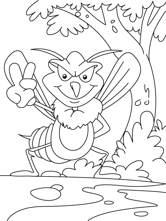 Water or air, mosquito everywhere coloring pages
