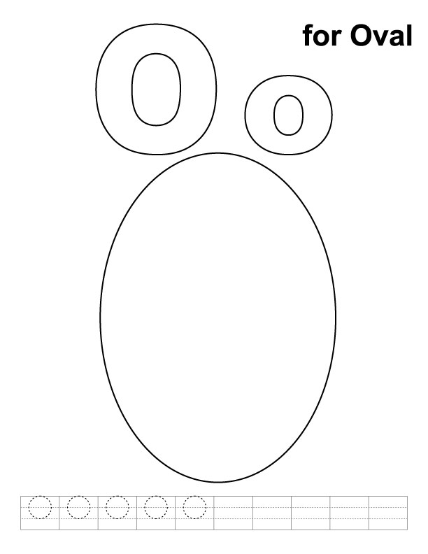 Oval Pages For Preschoolers Coloring Pages