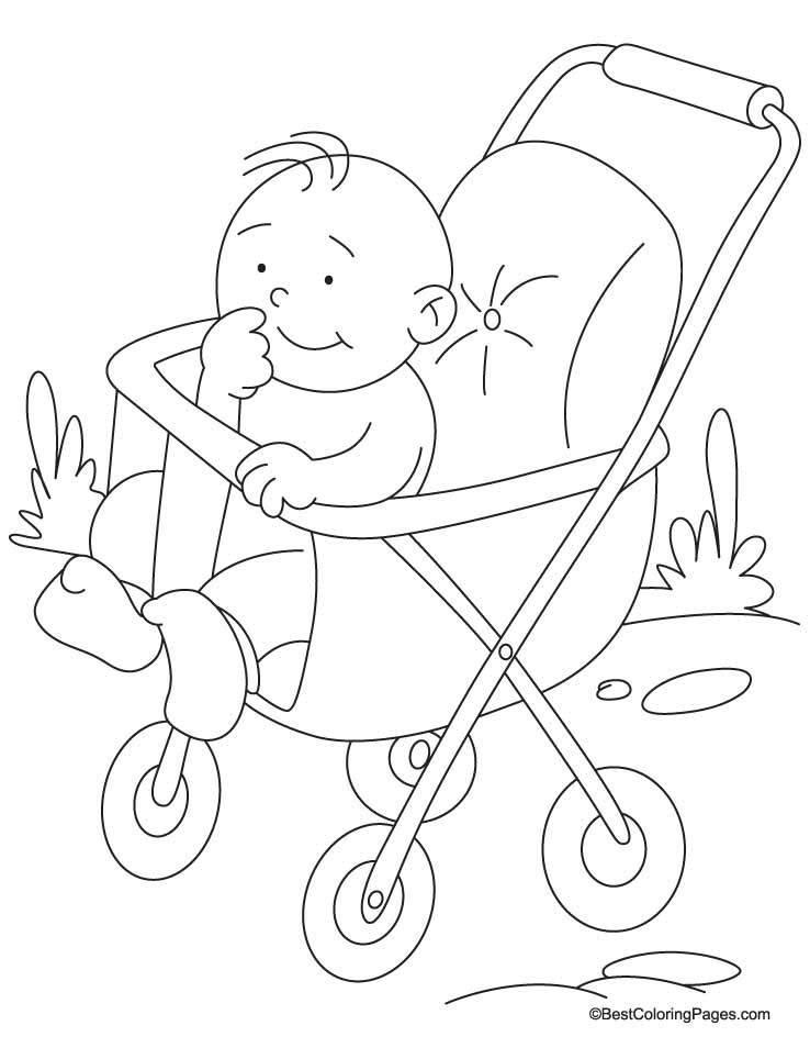 Coloring Pictures Of Baby Carriages Coloring Pages