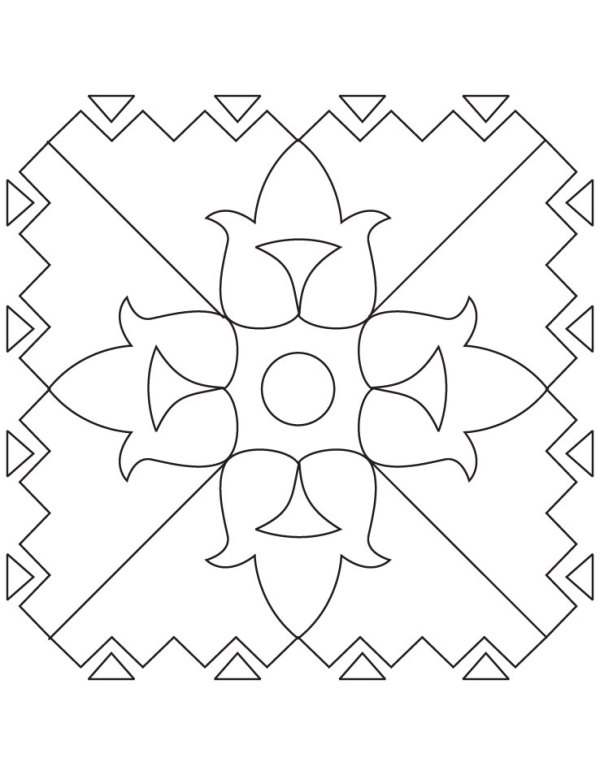 rangoli coloring pages # 30
