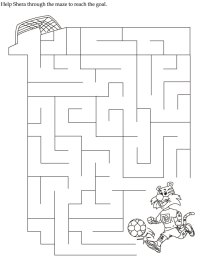 Kindergarten Maze Worksheets Free - free printable animal ...