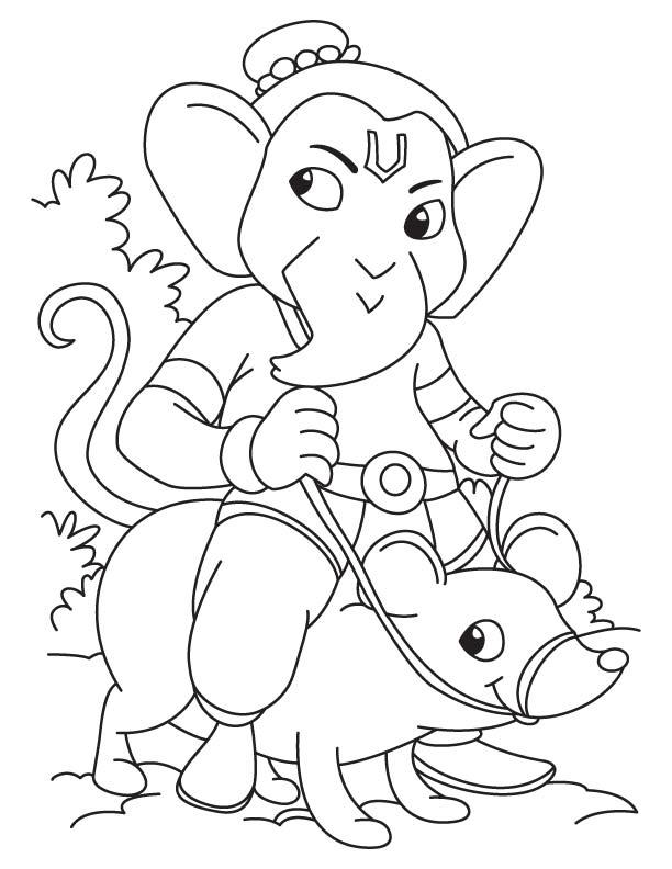 Ganesh Drawing For Kids : ganesh, drawing, Simple, Ganesha, Drawing, Download, Coloring, Pages