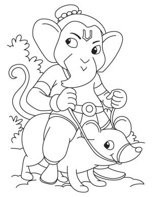 drawing ganesha ganesh simple drawings lord outline sketch coloring colouring pages painting kid easy ganpati draw worksheets bestcoloringpages elephant getdrawings