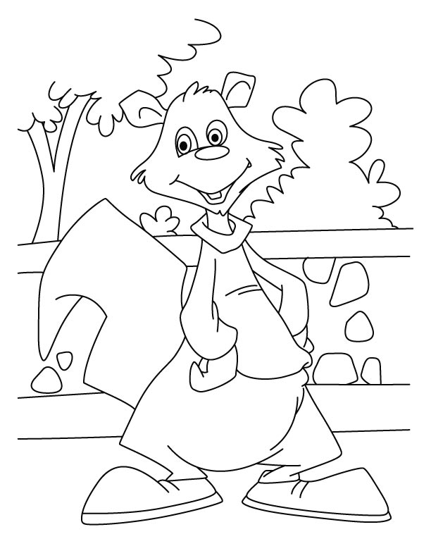 Free coloring pages of squirrel body parts