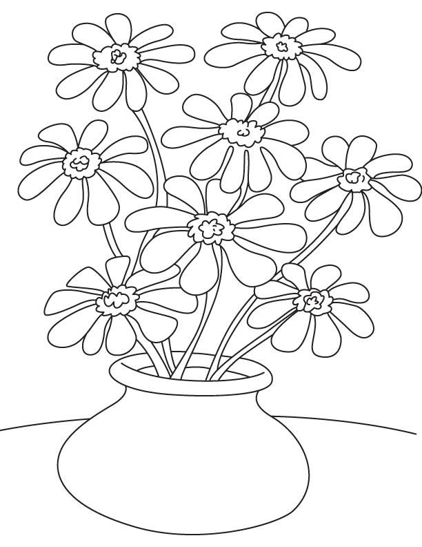 Pot Plant Coloring Download Pot Plant Coloring