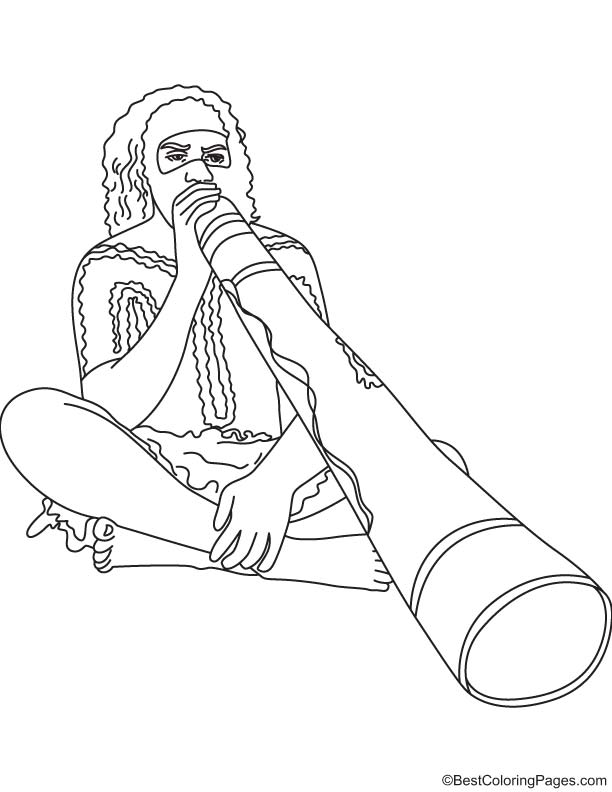shark aboriginal coloring pages